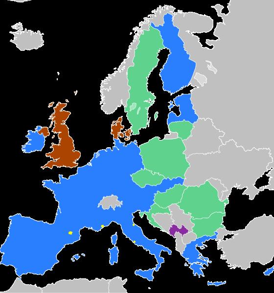 Länder der Eurozone (Wikimedia Commons)