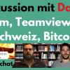 Zoom + Teamviewer Aktien, Bitcoin, Schweiz leben - Diskussion mit Daniel (34), Unternehmer + Doktor